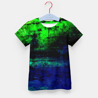 psychedelic sky clouds pattern wslsi Kid's t-shirt miniature