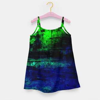 psychedelic sky clouds pattern wslsi Girl's dress miniature