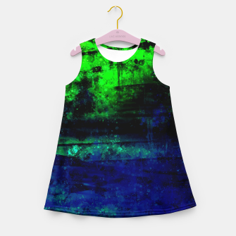 psychedelic sky clouds pattern wslsi Girl's summer dress miniature