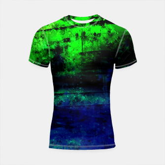 psychedelic sky clouds pattern wslsi Shortsleeve rashguard miniature