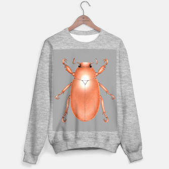 Copper Beetle (Grey Background) Sweater regular thumbnail image