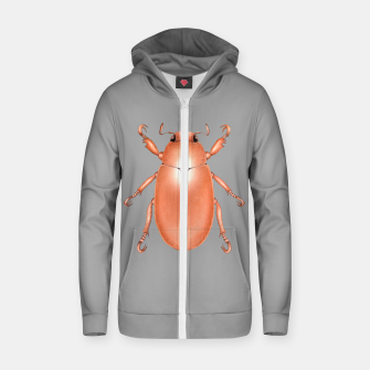 Copper Beetle (Grey Background) Zip up hoodie thumbnail image
