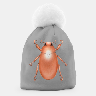 Copper Beetle (Grey Background) Beanie miniature