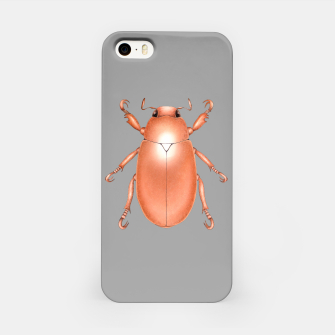 Copper Beetle (Grey Background) iPhone Case thumbnail image