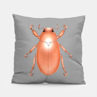 Copper Beetle (Grey Background) Pillow thumbnail image