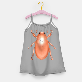 Copper Beetle (Grey Background) Girl's dress thumbnail image