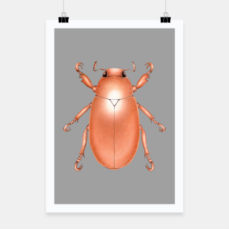 Copper Beetle (Grey Background) Poster miniature