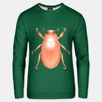 Miniaturka Copper Beetle (Green Background) Unisex sweater, Live Heroes
