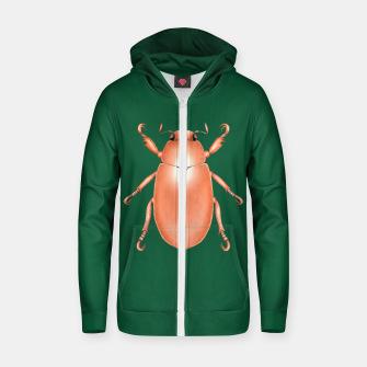 Thumbnail image of Copper Beetle (Green Background) Zip up hoodie, Live Heroes