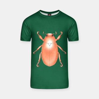 Thumbnail image of Copper Beetle (Green Background) T-shirt, Live Heroes