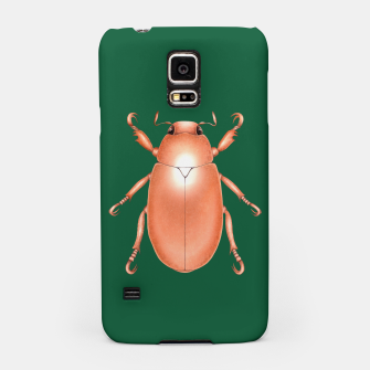 Thumbnail image of Copper Beetle (Green Background) Samsung Case, Live Heroes