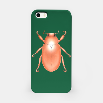 Thumbnail image of Copper Beetle (Green Background) iPhone Case, Live Heroes