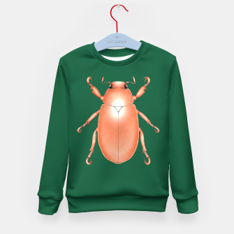 Thumbnail image of Copper Beetle (Green Background) Kid's sweater, Live Heroes