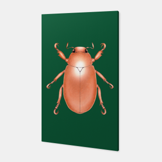Thumbnail image of Copper Beetle (Green Background) Canvas, Live Heroes