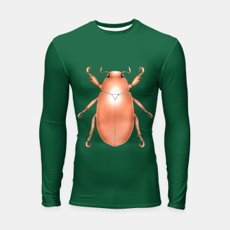Thumbnail image of Copper Beetle (Green Background) Longsleeve rashguard , Live Heroes