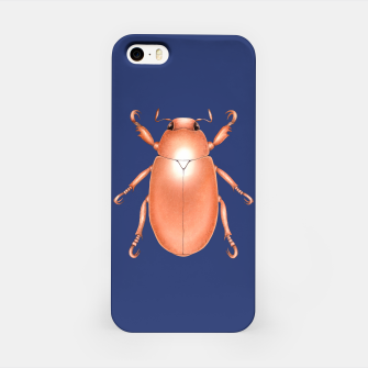 Thumbnail image of Copper Beetle (Blue Background) iPhone Case, Live Heroes