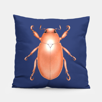Thumbnail image of Copper Beetle (Blue Background) Pillow, Live Heroes
