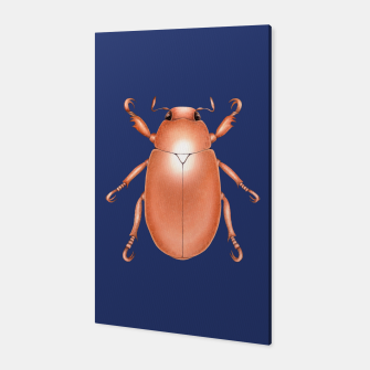 Thumbnail image of Copper Beetle (Blue Background) Canvas, Live Heroes