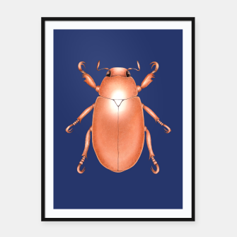 Thumbnail image of Copper Beetle (Blue Background) Framed poster, Live Heroes