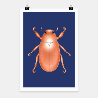 Thumbnail image of Copper Beetle (Blue Background) Poster, Live Heroes