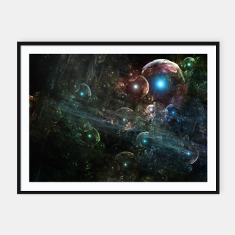 Thumbnail image of Mystery Of The Orb Cluster Framed poster, Live Heroes