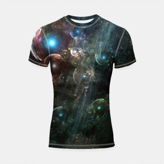 Thumbnail image of Mystery Of The Orb Cluster Shortsleeve rashguard, Live Heroes