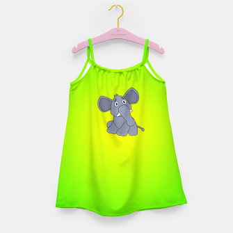 Elephant Girl's dress miniature