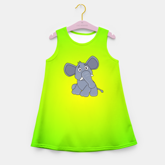 Elephant Girl's summer dress miniature