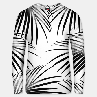 Miniaturka Black Palm Leaves Dream #2 #tropical #decor #art  Unisex sweatshirt, Live Heroes
