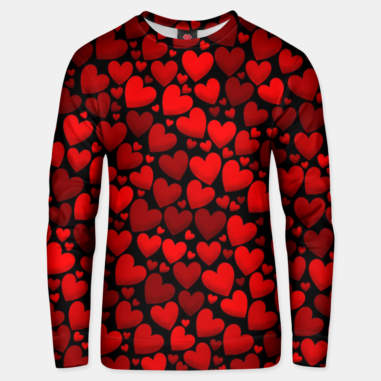 Image de Red hearts pattern Unisex sweater - Live Heroes