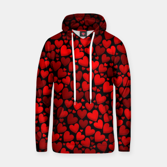 Red hearts pattern Hoodie miniature