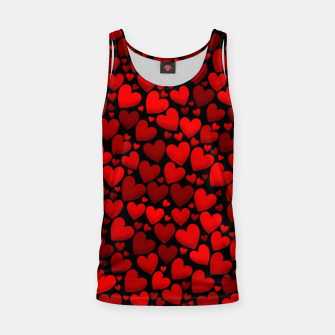 Red hearts pattern Tank Top miniature