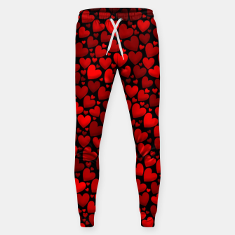 Red hearts pattern Sweatpants miniature