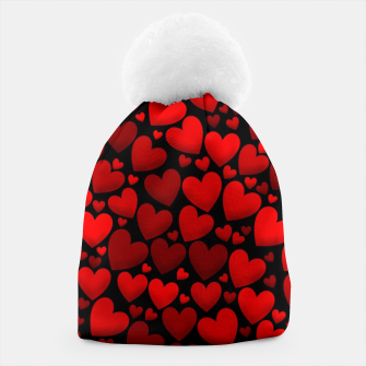Red hearts pattern Beanie miniature
