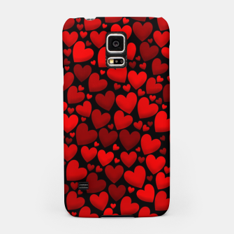 Red hearts pattern Samsung Case miniature