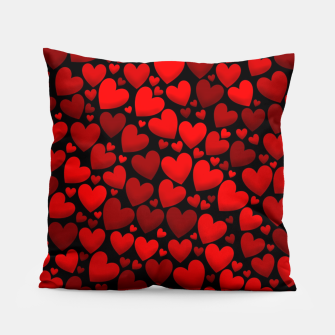Red hearts pattern Pillow miniature