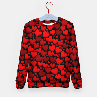Red hearts pattern Kid's sweater miniature