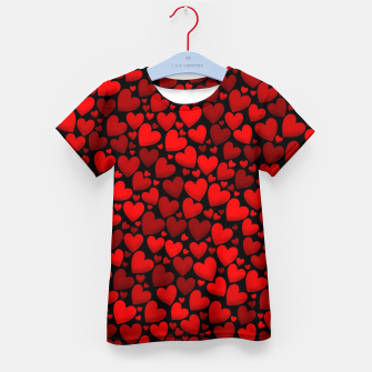 Red hearts pattern Kid's t-shirt miniature