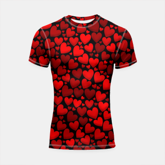 Red hearts pattern Shortsleeve rashguard miniature