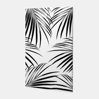 Thumbnail image of Black Palm Leaves Dream #2 #tropical #decor #art  Canvas, Live Heroes