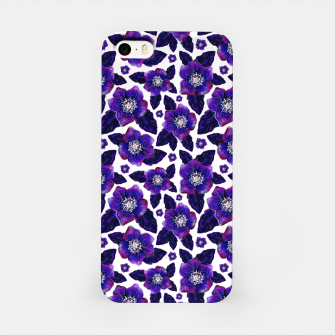 Dark Blooms On White Background iPhone Case miniature