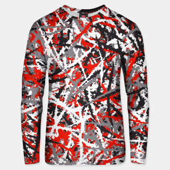 Thumbnail image of Red grunge camouflage Unisex sweater, Live Heroes