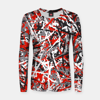 Thumbnail image of Red grunge camouflage Women sweater, Live Heroes