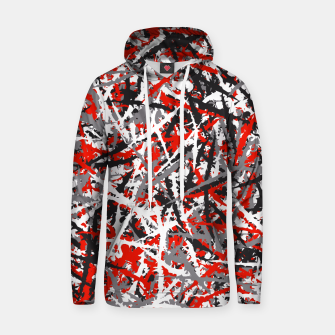 Thumbnail image of Red grunge camouflage Hoodie, Live Heroes