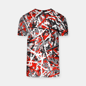 Thumbnail image of Red grunge camouflage T-shirt, Live Heroes