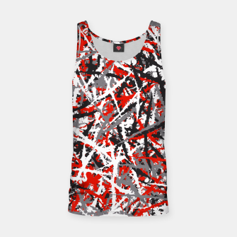 Thumbnail image of Red grunge camouflage Tank Top, Live Heroes