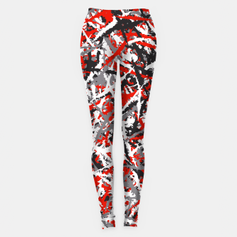 Thumbnail image of Red grunge camouflage Leggings, Live Heroes