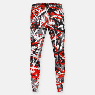 Thumbnail image of Red grunge camouflage Sweatpants, Live Heroes