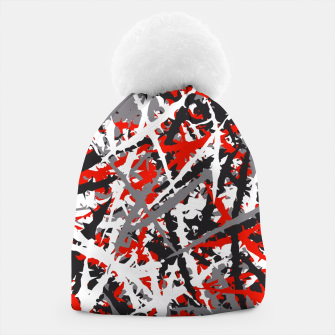 Thumbnail image of Red grunge camouflage Beanie, Live Heroes