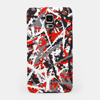 Thumbnail image of Red grunge camouflage Samsung Case, Live Heroes